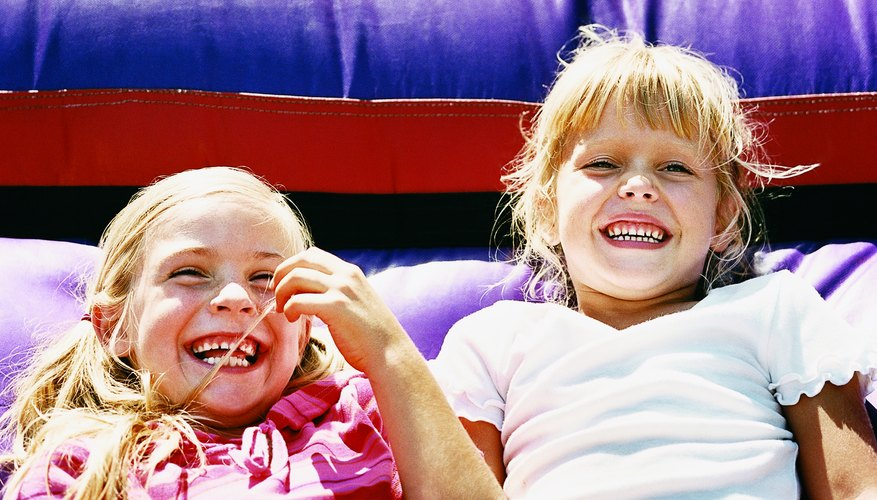 Bouncy castles offer hours of fun, but extremely young children need constant supervision when jumping.
