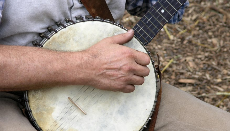Bluegrass is played exclusively with stringed instruments.