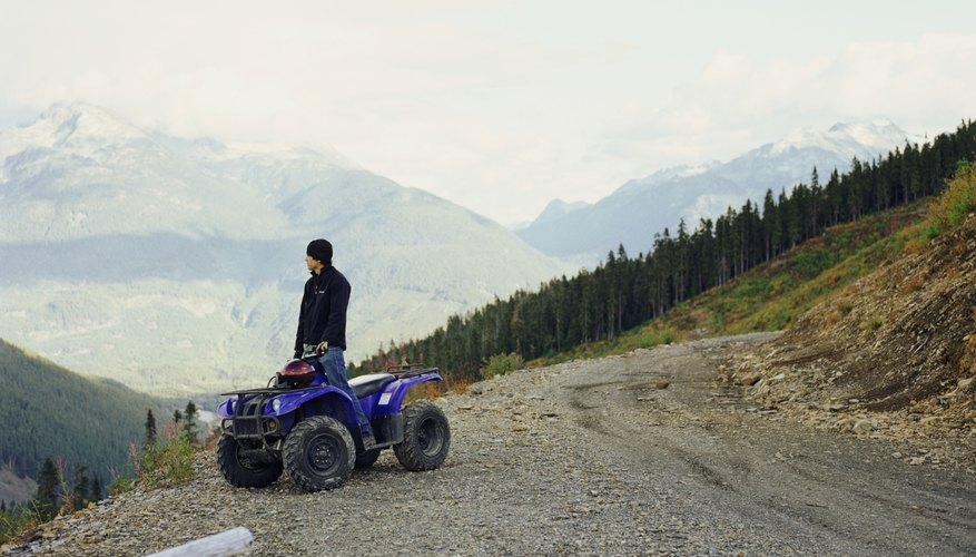 ATV on side of dirt road