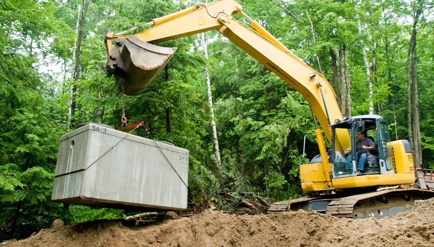 Septic tanks are purchased and installed with grants.