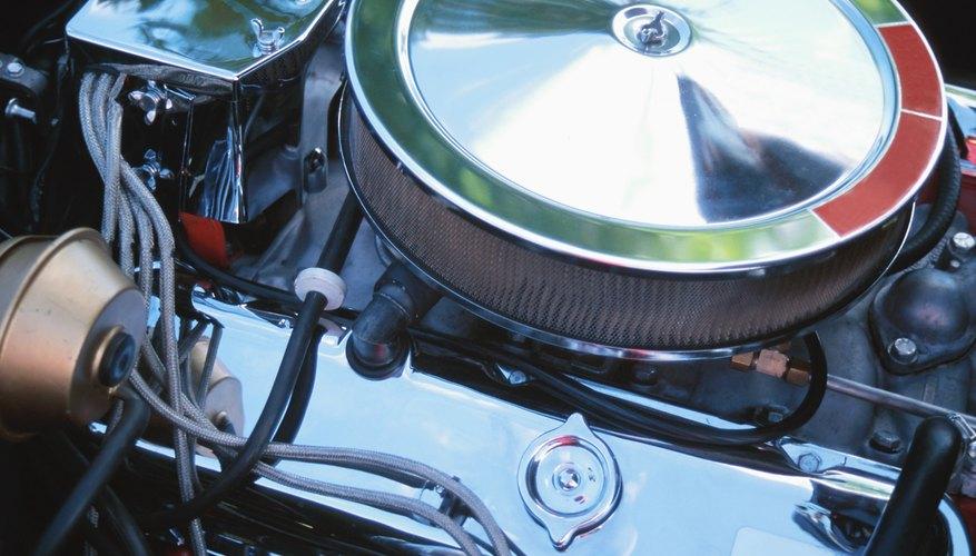 Close-up of a car engine