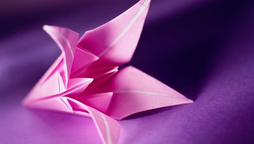 Las flores de origami son complejas pero hermosas.