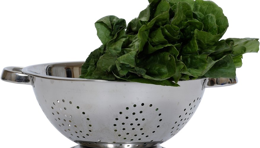 Folic acid is present in green leafy vegetables, like spinach