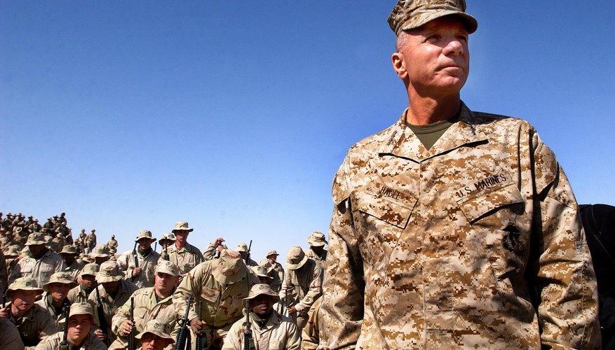 General y Marines del Cuerpo de Marines de EE.UU.