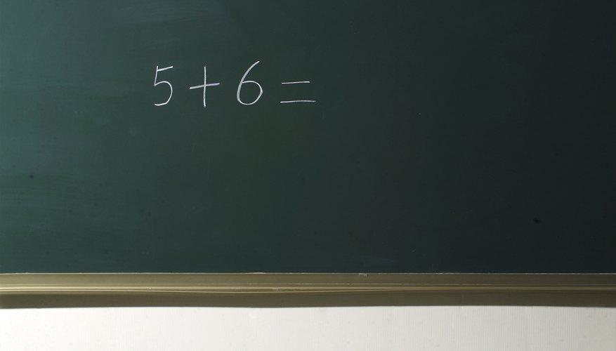 Non-primal numbers written on chalkboard