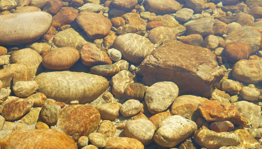 Stream beds and beaches have an almost unlimited supply of fishing sinkers.