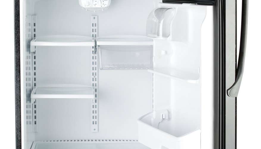 Older refrigerators use CFC-containing Freon compounds to keep food cold.