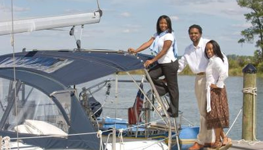 A portable Bimini top gives you shade on any boat.