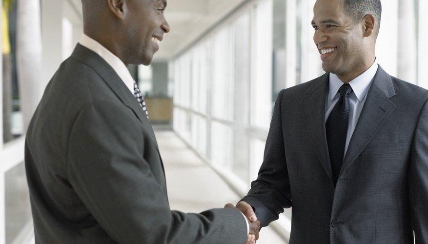 Happy Businessmen Shaking Hands