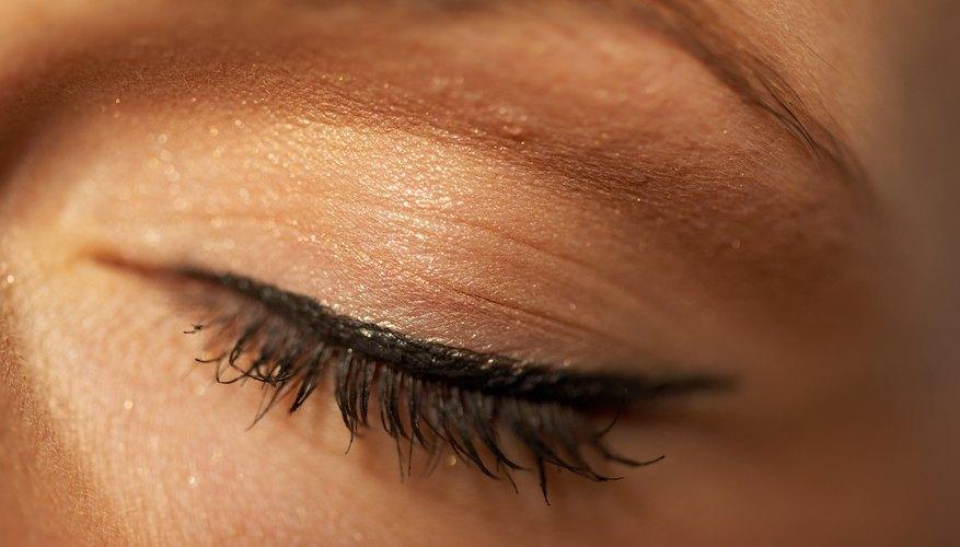Close up of eyelid.