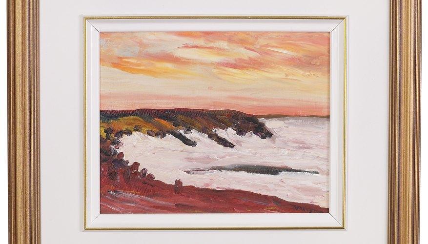 → Cómo enmarcar una pintura al óleo en lienzo en un marco más ...