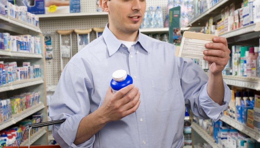 Reading medication label