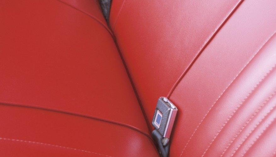 Seat belt buckles in car