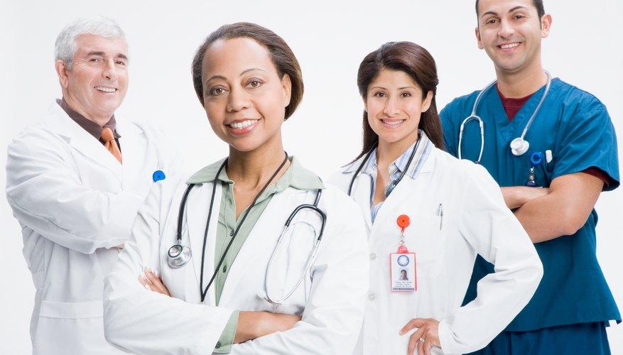Portrait of smiling doctors