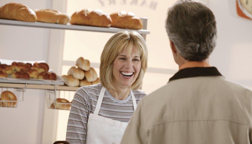 Greeting a customer