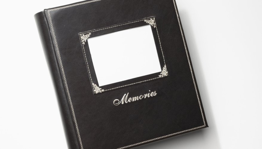 Top-load scrapbooks allow you to easily add photos and mementos.