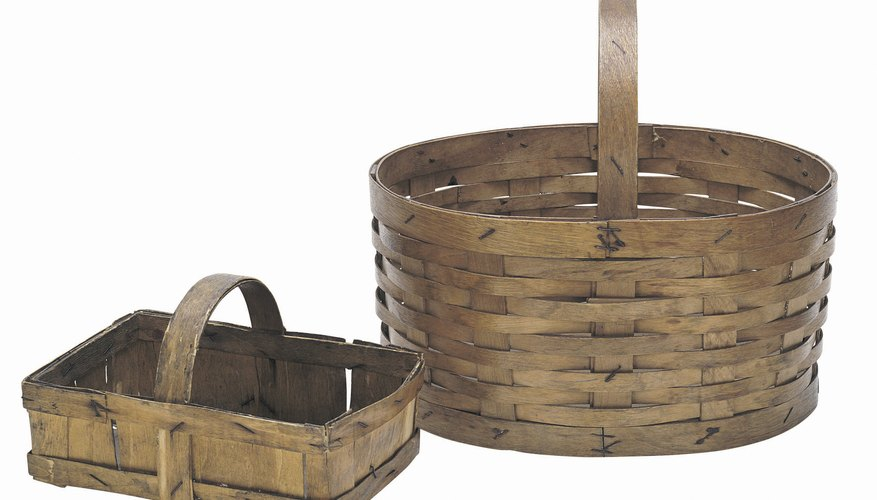 Vintage baskets are often made from wood like ash or willow.