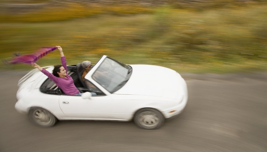 The speed of a car can be calculated by measuring how much distance it travels in a given amount of time.