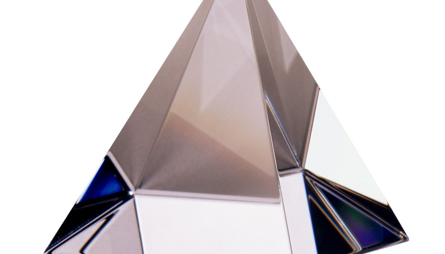 Pyramid shaped crystal.