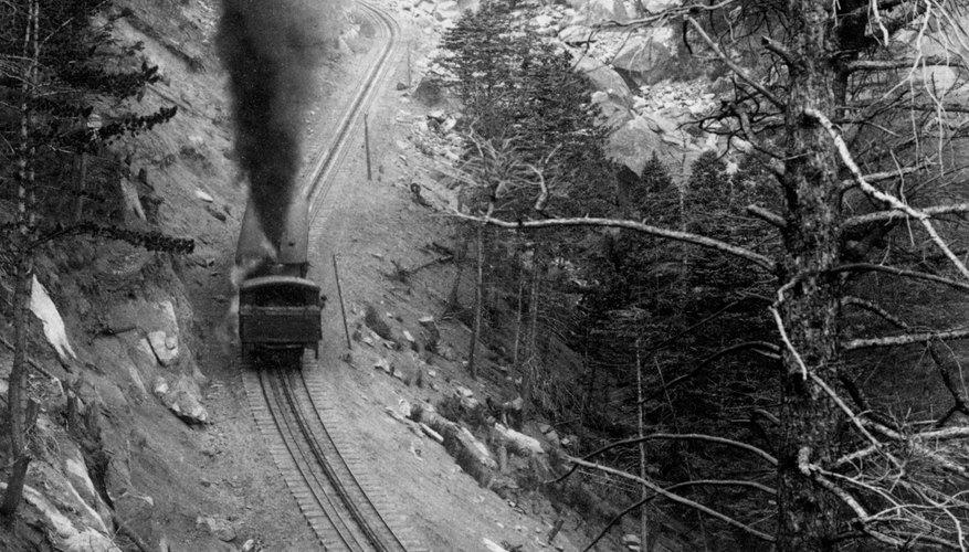Pikes Peak Railroad Gravel Slide