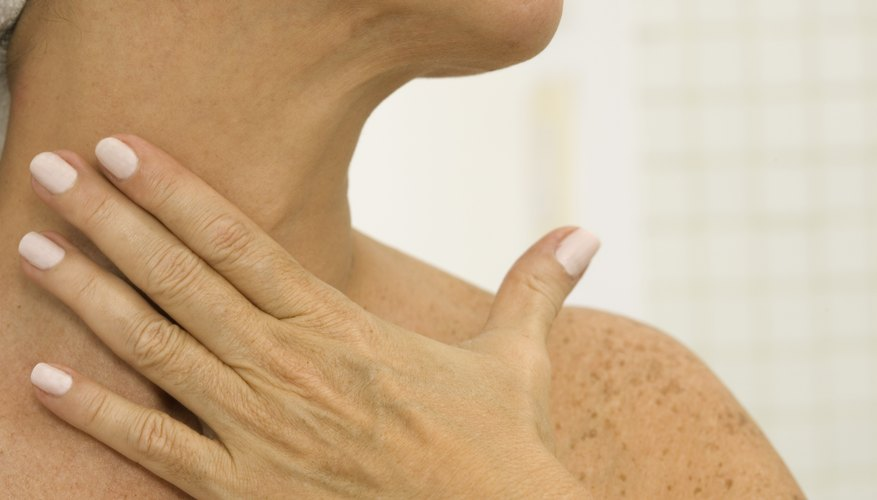 A close up of a woman's neck.