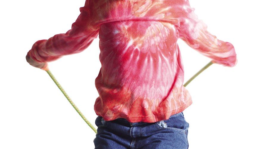Jumping rope is an entertaining way for your child to get exercise.