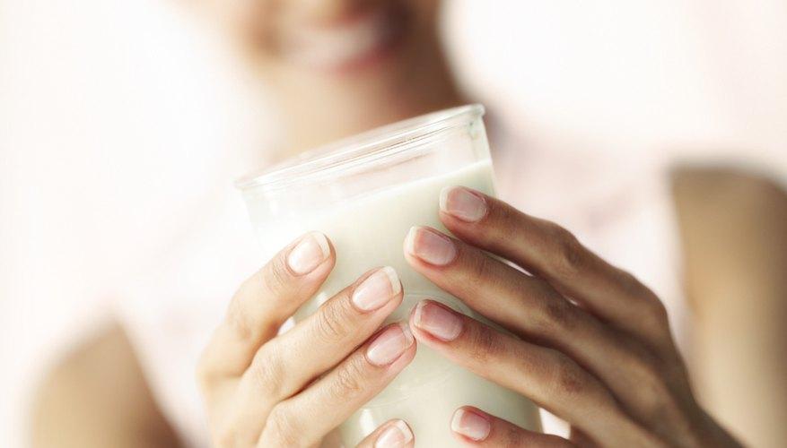 Woman holding milk