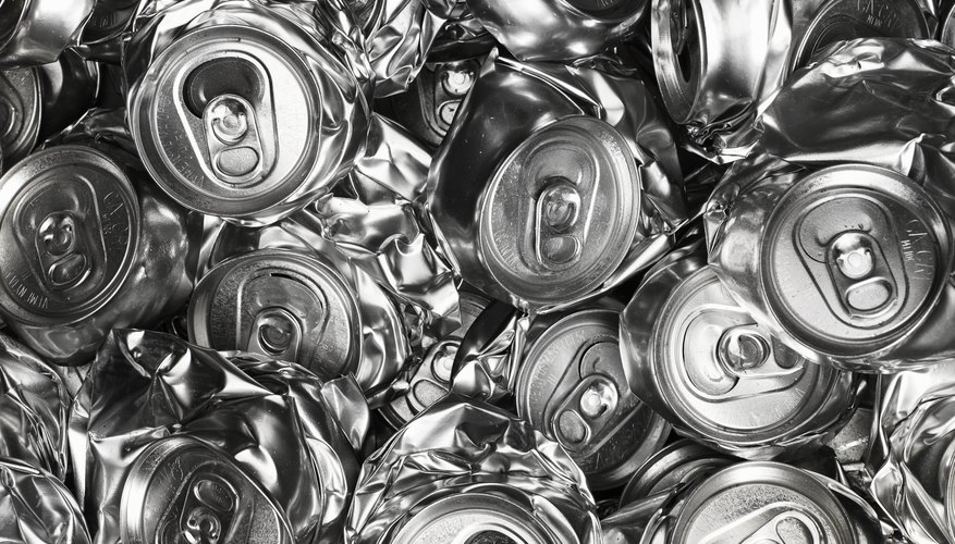 Recycled aluminum cans cost money to melt down, handle and transport, but their value as a commodity offsets these costs.