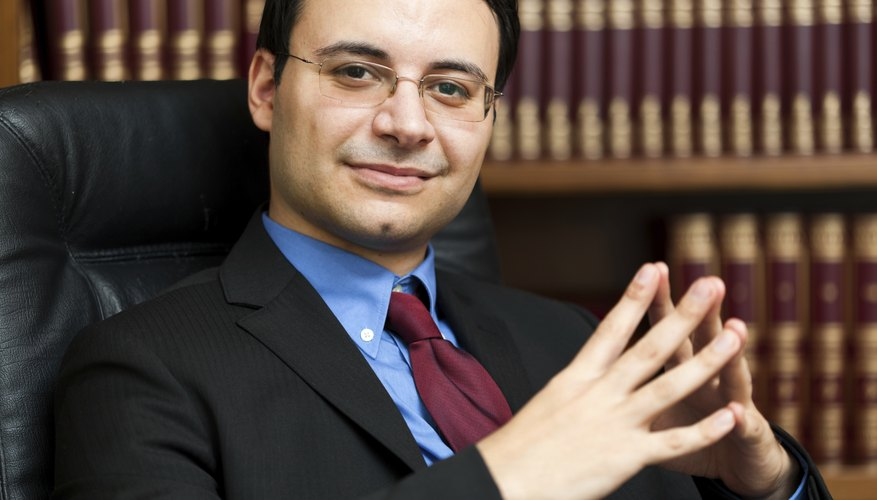 Successful lawyer portrait