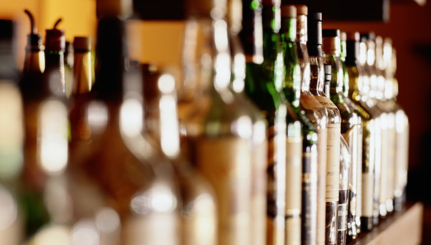 Alcoholic beverages contain ethanol at different dilutions.