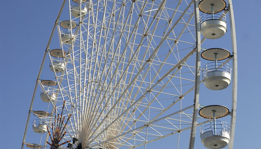 The spokes of a Ferris wheel have a length equal to the wheel's radius.