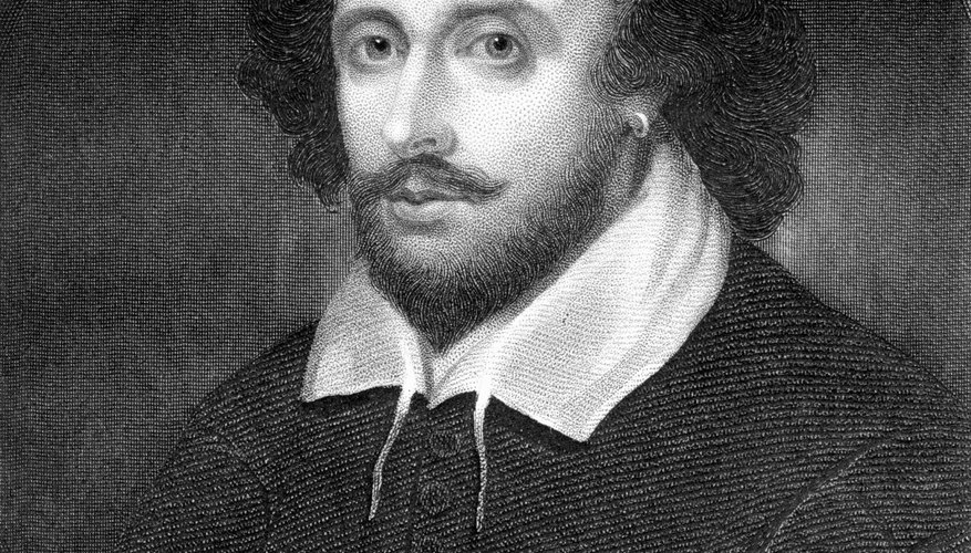 Portrait of William Shakespeare.