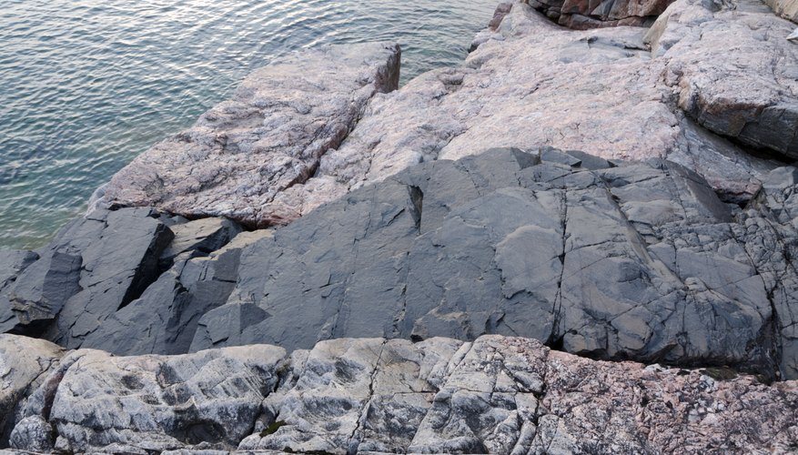 A feldspar rock formation along Lake Superior in Michigan.