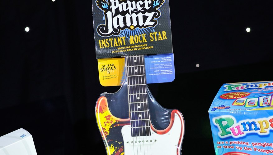 The Paper Jamz guitar offers an alternative to a real guitar.