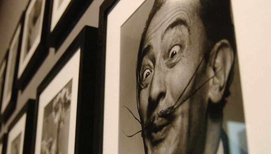 Salvador Dali's moustache was as famous as his paintings.