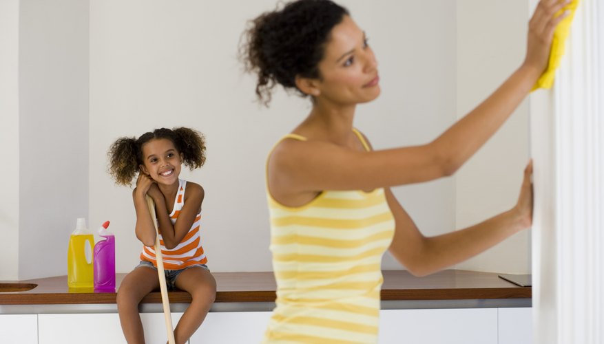 Get family members to help keep the home clean and tidy.