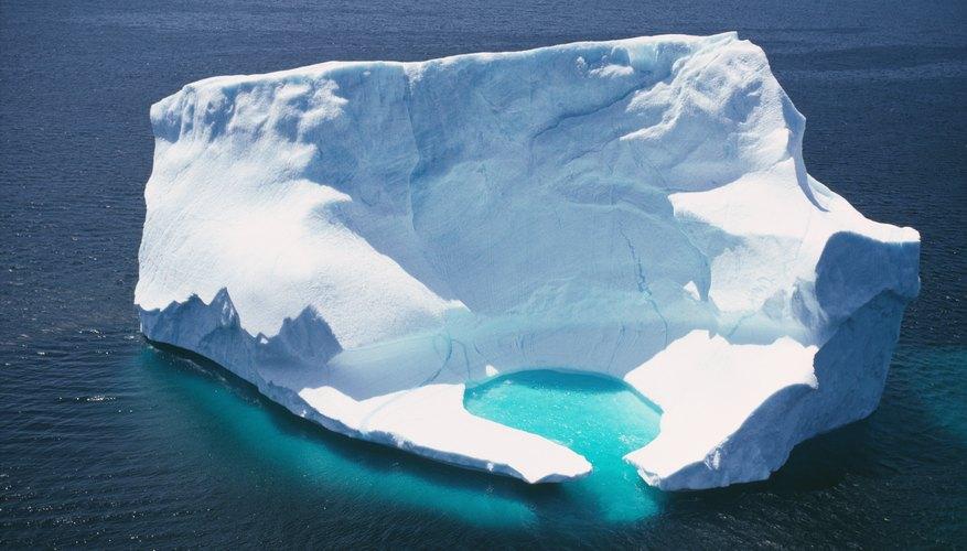 Melting fresh water iceberg in the ocean