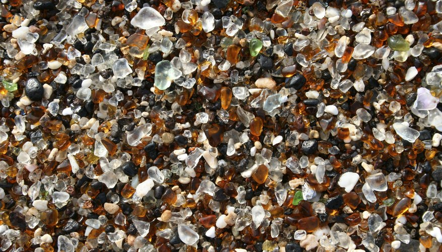 Kauai's glass beach is covered with sea glass.