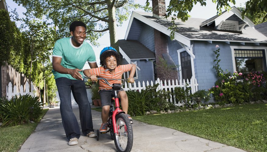 Riding a bike is an excellent way to improve gross motor coordination.