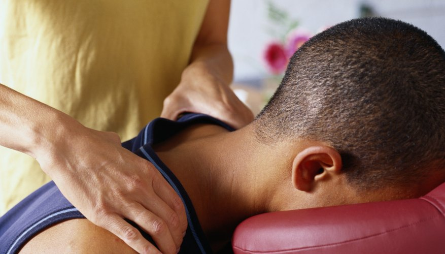 Man Receiving a Shoulder Massage