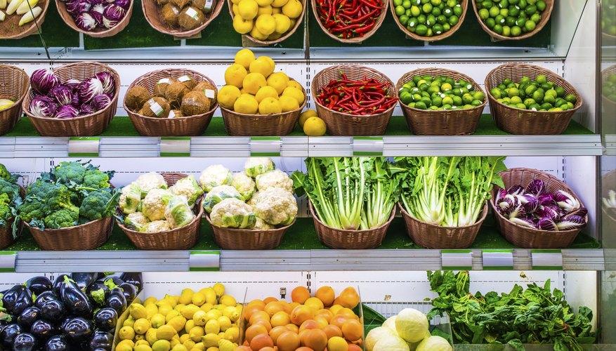 vegetables for sale at a market.