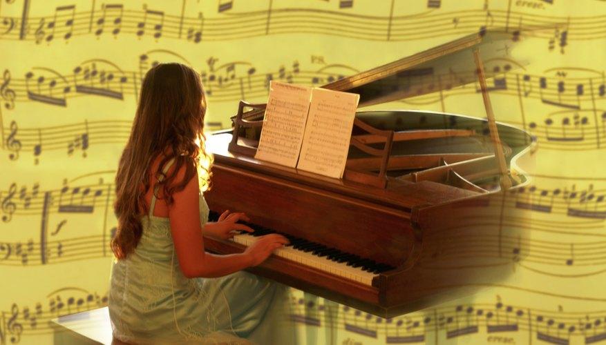 Un piano genera ondas de sonido ricas y complejas.