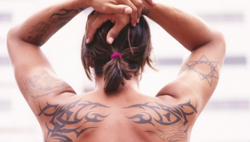 Add more details to fix a tribal tattoo.