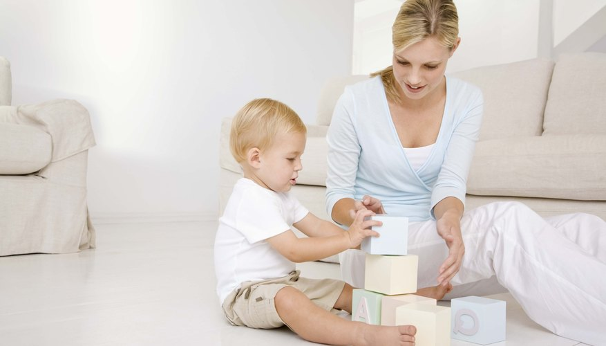 Stacking and nesting blocks is one way for babies to learn about spatial relations.