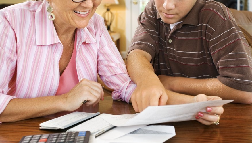 Parents can help their teens plan a monthly budget.