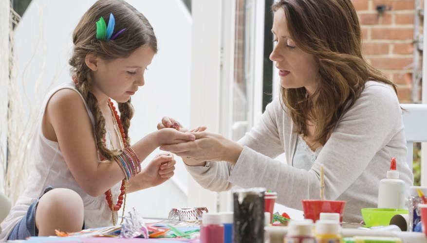 Pull out the craft box and get your kiddo involved to feel good about her work.