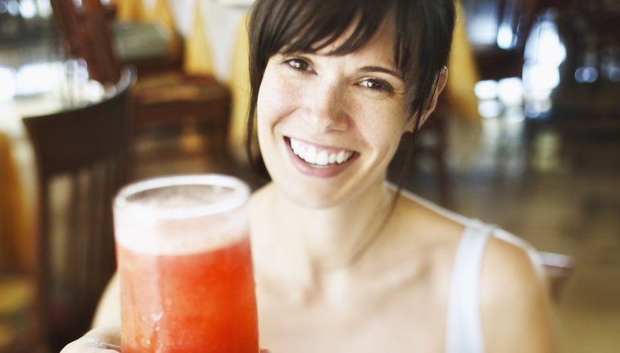 Woman with alcoholic beverage