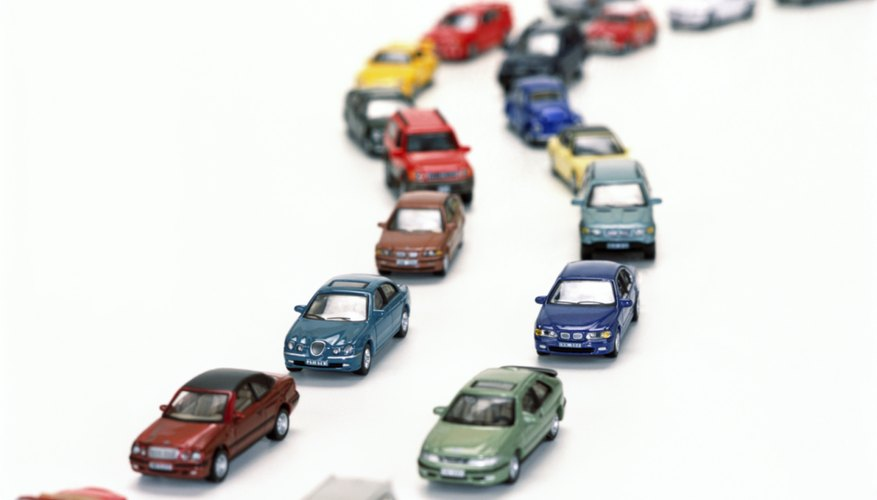 a variety of toy model cars
