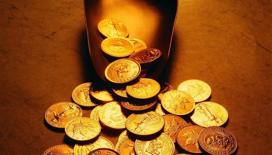 Las monedas de oro son hermosas, pero también pueden ser falsificadas.