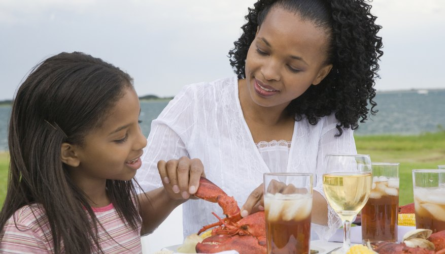 Children should be old enough to chew and swallow shellfish without choking.